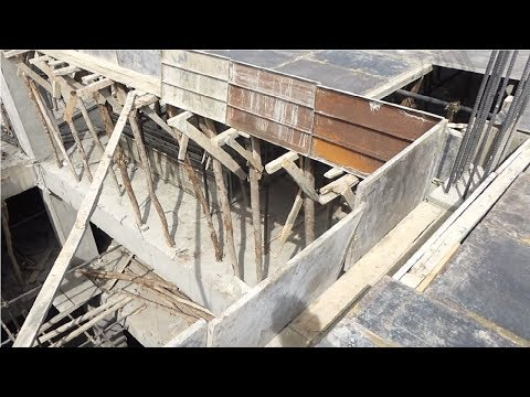 Beams shuttering construction at site