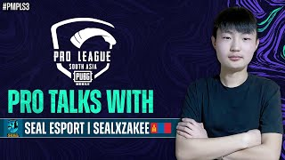 Pro Talks with Seal Esports | PUBG MOBILE Pro League South Asia 2021 S3