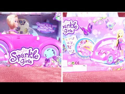 Unboxing Funville Sparkle Girlz Car & Doll - Toy Review