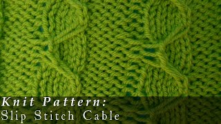 Knit Slip Stitch Left Handed : Left Handed Knitting Slipped Stitch Cable Tutorial, and Complementary Baby Ha...