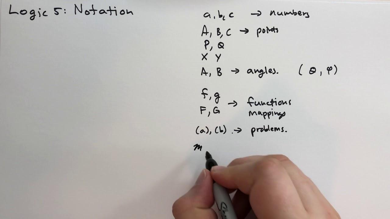 Logic 5 Notation (Basic Mathematics)