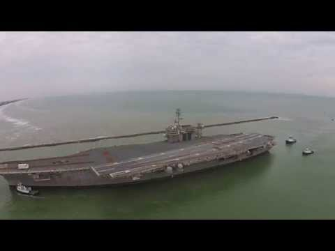 USS Constellation Ends Final Voyage at the Port of Brownsville