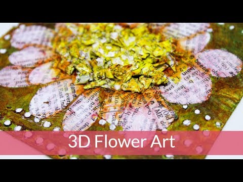 🌼🌼🌼GIVEAWAY🌼🌼🌼3D Flower Art Using Dictionary Paper