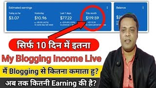 My Blogging Earning 2019 | My Monthly Blogging income