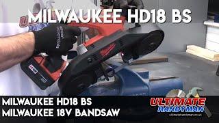 Milwaukee HD18 BS   Milwaukee 18v bandsaw