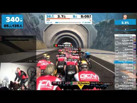 Zwift - C.Savage[BRT] GCN Ride with Matt Stevens Live Stream with Rider View