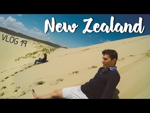 Sand Boarding at 90 Mile Beach and Cape Reinga, New Zealand | vlog 19
