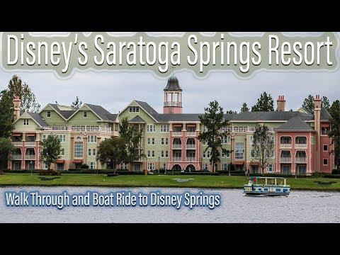 Disney's Saratoga Springs Resort Walk Through and Boat Ride to Disney Springs