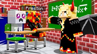 I Sent Baby Preston to MONSTER SCHOOL! - Minecraft