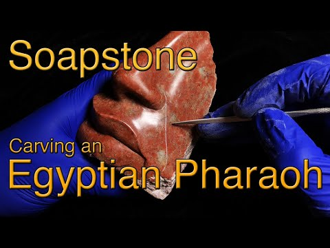 Egyptian Pharaoh Soapstone Carving Time Lapse