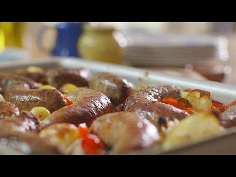 Roasted Sausage Supper recipe Mary Berry's Absolute Favourites: Episode 4 Preview BBC Two