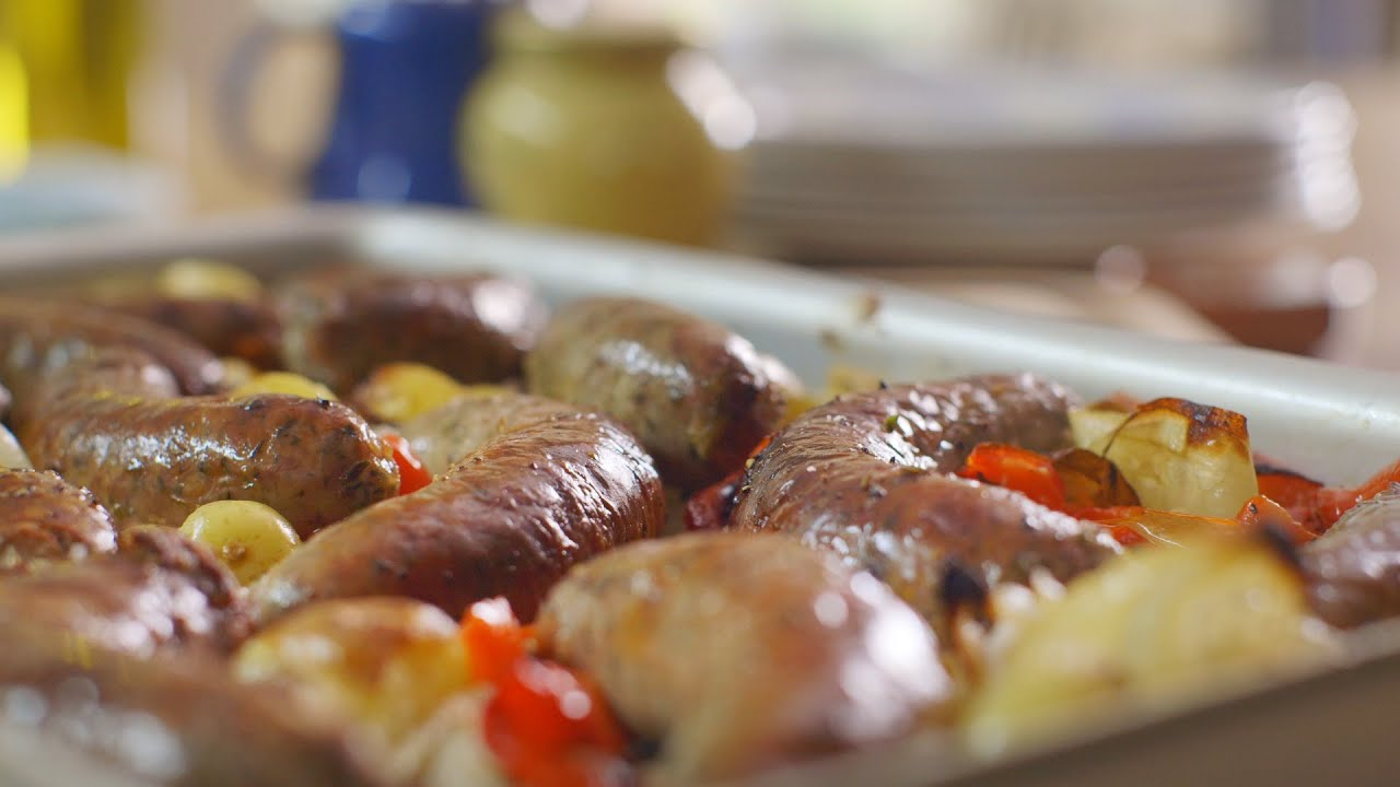 Roasted sausage supper recipe mary berrys absolute favourites roasted sausage supper recipe mary berrys absolute favourites episode 4 preview bbc two youtube forumfinder Choice Image