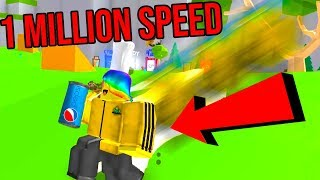ROBLOX SODA SIMULATOR *HITTING 1 MILLION SPEED*