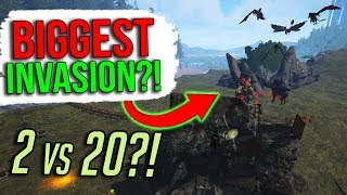 THE BIGGEST INVASION EVER ON ARKPOCALYPSE?! | ARK Official PvP Apocalypse - ARK Survival Evolved
