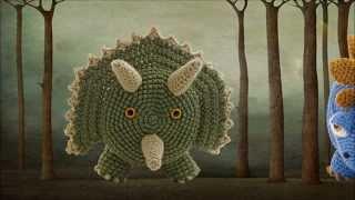 Stegosaurus & Triceratops ~ Amigurumi Crocheted Dinosaur Toilet Paper Covers