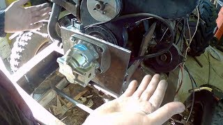 отключаемый привод НШ32 на самодельный трактор. Как установить гидробак