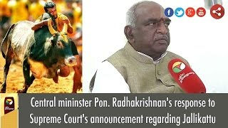 Central Mininster Pon. Radhakrishnan's Response To Supreme Court's Announcement Regarding Jallikattu