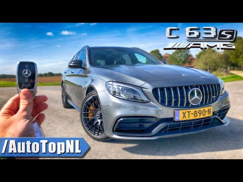 2020 Mercedes AMG C63 S Estate REVIEW POV Test Drive on AUTOBAHN & ROAD by AutoTopNL