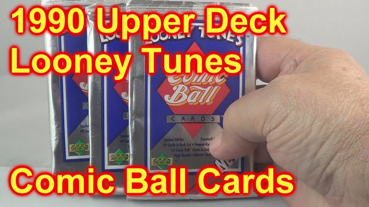 1990 Upper Deck Looney Tunes Baseball Comic Ball Cards Opening 3 Packs Bugs Bunny
