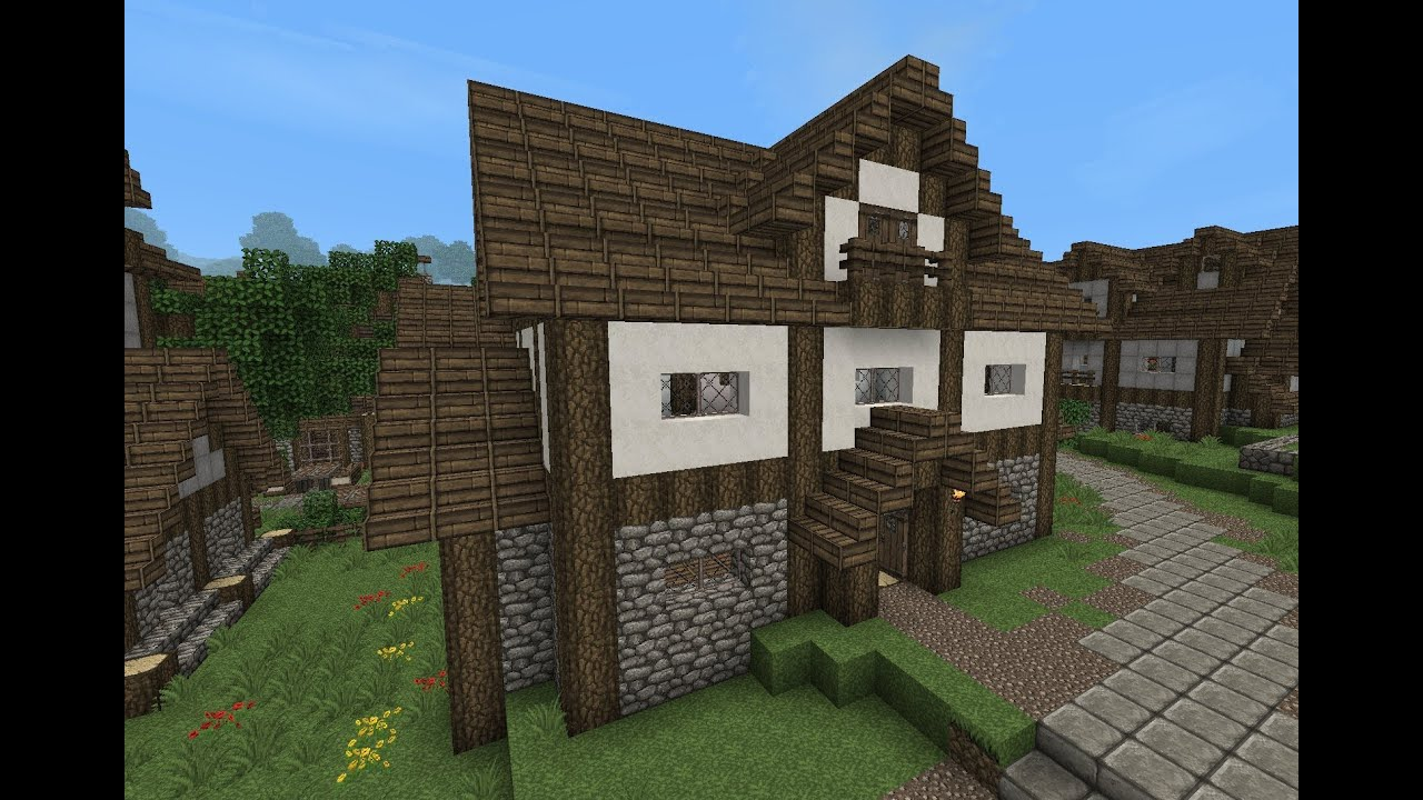Minecraft gundahar tutorials medieval house 4 youtube for Medieval house design