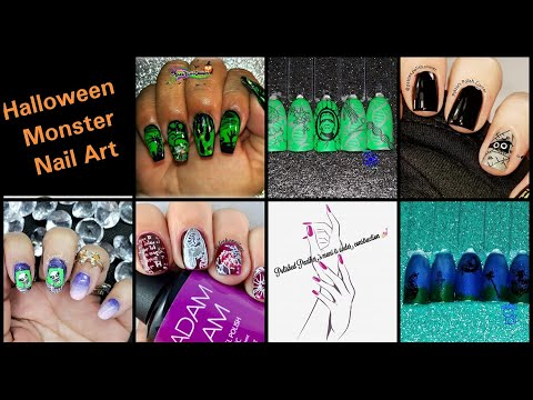 Halloween Party Series - Halloween Monsters | Stamping Nail Art Tutorial | Facebook Group Collab ✓ thumbnail