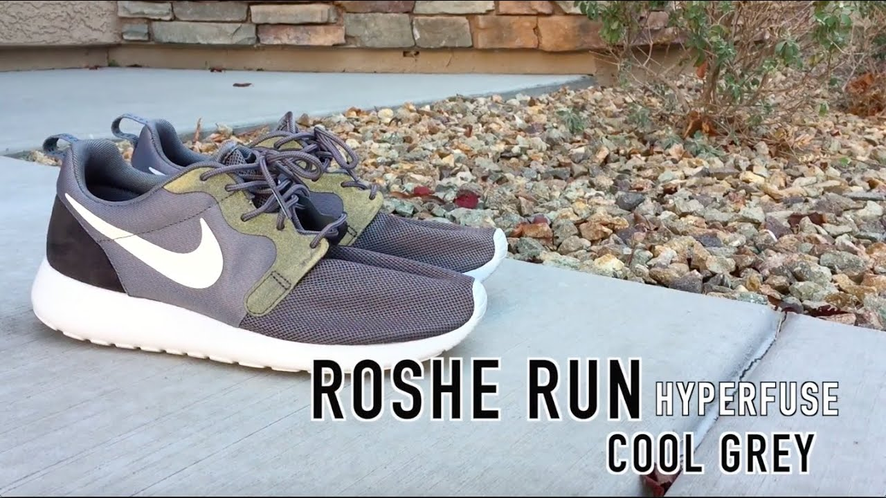detailed look 91b0d 761f1 Roshe Run Hyperfuse Review   On Feet   Cool Grey