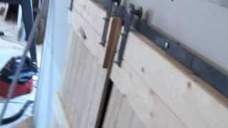 "Diy Barn Door Sliding Doors.  Doors Are 24"" X 48""."