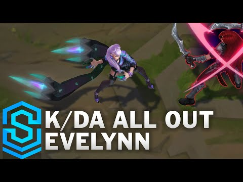 K/DA ALL OUT Evelynn Skin Spotlight - Pre-Release - League of Legends