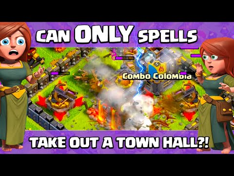 Clash Of Clans ♦ Can ONLY Spells Take Out A Town Hall? ♦ CoC ♦