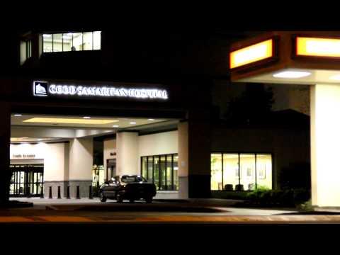 Good Samaritan Hospital Emergency Night NX establishing shot 3