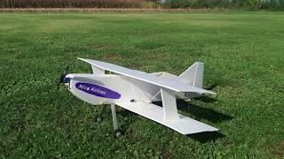 biplano In depron autocostruito, volo test