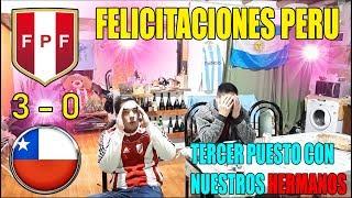 PERU 3 CHILE 0 | REACCIONES DE HINCHAS ARGENTINOS | COPA AMÉRICA 2019