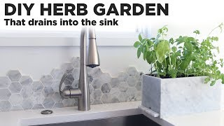 DIY Herb Garden that drains into the sink