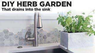 DIY Herb Garden that drains in…