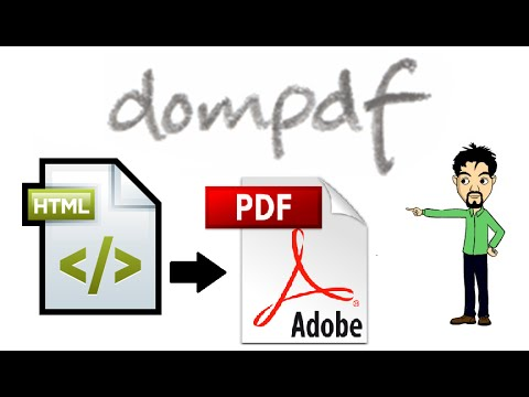 API & Classes Guide - How to use dompdf to convert HTML page into PDF   (Urdu / Hindi)