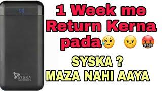 Syska 20000 MAH   Power bank bnaya hai ya mazak??   Reviews