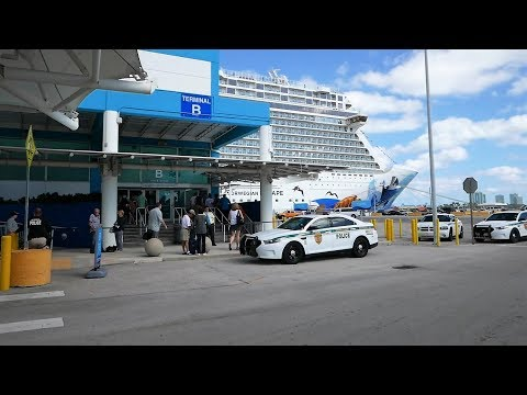 Port Of Miami Arrival & Cruise Ship Embarkation Of Norwegian Escape - What To Expect (HD)