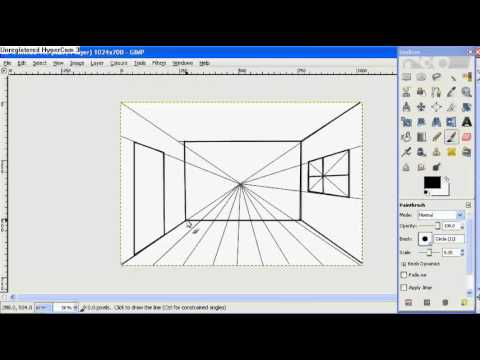 How To Draw A Room With One Point Perspective Youtube