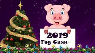 Видео поздравление с новым годом 2019 - год свиньи