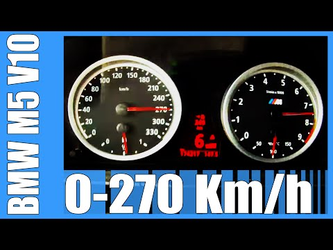 BMW M5 E60 507 HP Acceleration 5.0 V10 0-270 Km/h AMAZING! Top Speed Autobahn Test