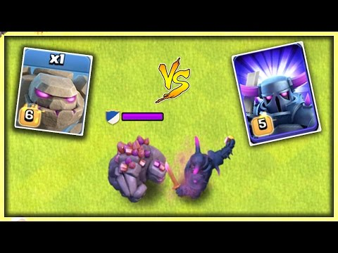 GOLEM vs PEKKA - CLASH OF CLANS | OMG ! WHO WINS? | MAX LEVEL GOLEM vs MAX LEVEL P.E.K.K.A. | COC