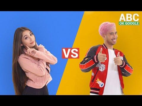 #SelaluTauMusik: Vidi Aldiano vs Devina Aureel main ABC OK Google
