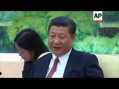 FIFA chief meets Chinese president