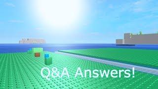 Roblox: Q&A answers! #1