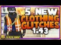 Download 5 NEW Clothing Glitches 1.43! RACING Outfit Glitch, JUGGERNAUT Pants,More! GTA 5 Top 5 Glitches 1.43