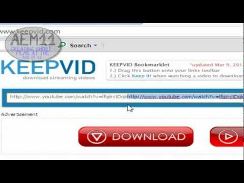 How to download youtube audio with keepvid