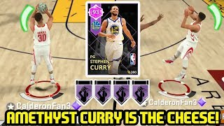 AMETHYST STEPH CURRY w/ HOF LIMITLESS JOINS GODSQUAD! NBA 2K18 MYTEAM GAMEPLAY