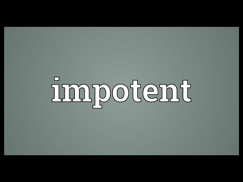 Impotent Meaning