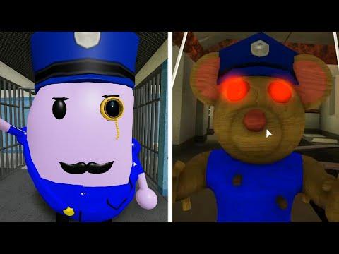 ROBLOX PIGGY OFFICER MR P VS OFFICER MARI JUMPSCARES - Roblox Piggy Book 2