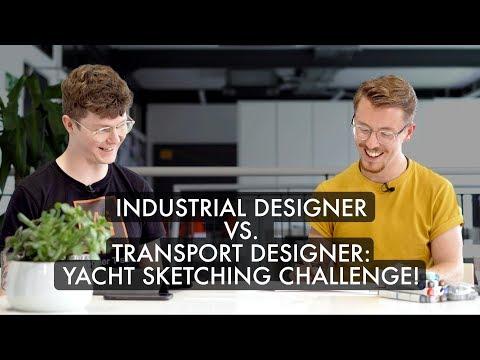 Industrial Designer Vs. Transport Designer: Yacht Sketching Challenge!